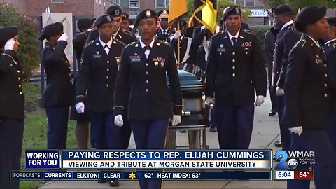 Paying respects to Rep. Elijah Cummings