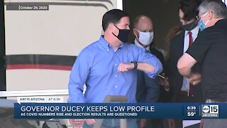 Governor Ducey keeps low profile amid rising COVID numbers, election
