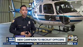 New campaign to recruit Phoenix officers