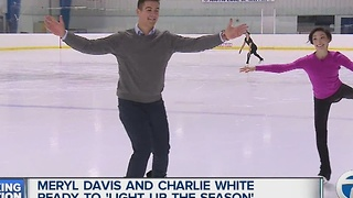 Olympic champions Meryl Davis and Charlie White ready to 'Light Up the Season' in Detroit - Video