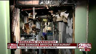 Bristow's Beach House Restaurant damaged by fire - Video