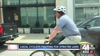 Cyclist reminds motorists of 3 feet rule