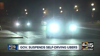 Governor Ducey suspends self-driving Ubers in Arizona - Video