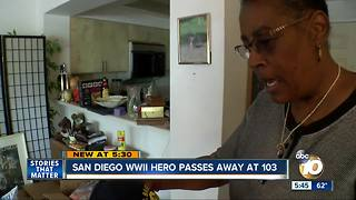 San Diego WWII hero passes away at age 103 - Video