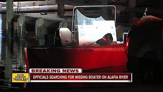 Search underway for missing boater on Alafia River - Video
