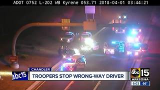 Troopers arrest wrong-way driver on Loop 202 early Sunday morning