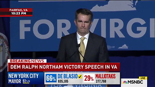 [1280x720] WATCH Ralph Northam Rushed Offstage As Protestors Interrupt Victory Speech  Mediaite - Video