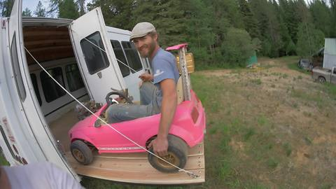 Guys Put A Real Engine In A Barbie Go-Kart, Then Push It To Its Limits