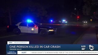 Person killed in car crash in paradise valley