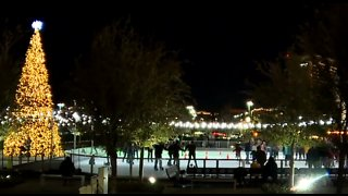 Local families start new Christmas tradition at ice rink in Downtown Summerlin