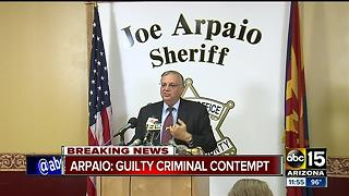 Arpaio guilty in criminal contempt case - Video