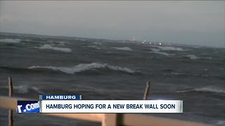 Hamburg hoping for a new break wall soon - Video