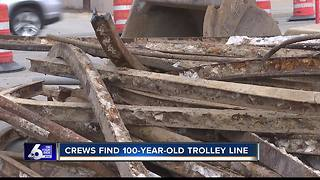 Construction crews find 100-year-old trolley rail line in Boise - Video