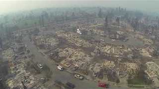 Drone Captures Devastating Impact of Wildfires on Santa Rosa - Video