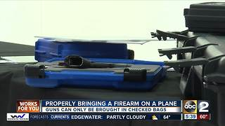 Properly bringing a firearm on a plane - Video