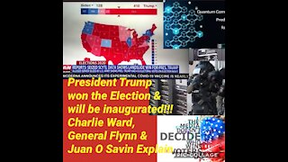 President Trump won the election & WILL BE INAUGURATED 💯 %