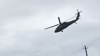 Helicopters Assist Flood Victims in Houston - Video