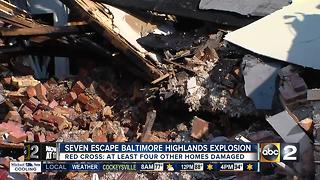 Seven rescued from house fire, apparent explosion in Baltimore Highlands