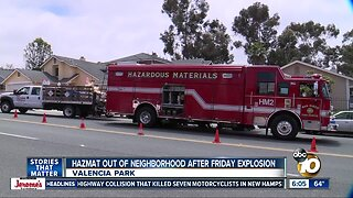 Hazmat team finally leaves Valencia Park home after explosion