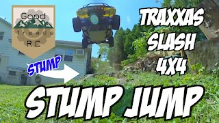 Traxxas Slash 4x4 Stump Jump!
