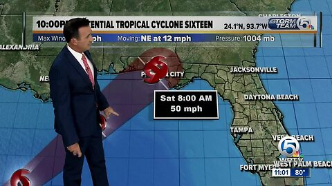 Tropical storm warning issued for parts of Florida Panhandle due to potential tropical cyclone