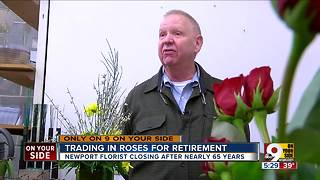 Florist for 47 years trades roses for retirement - Video