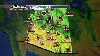 FORECAST: Cool, breezy weekend in the Valley - Video