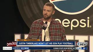 Justin Timberlake doesn't want son to play football - Video