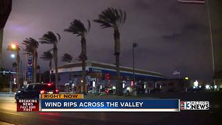 Wind whips through Las Vegas valley - Video