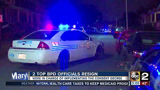 Two top Baltimore Police officials resign following Commissioner's termination - Video
