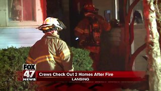 Crews check out homes after Lansing fire