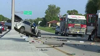 Crash shuts down Midpoint Bridge between Fort Myers and Cape Coral - Video