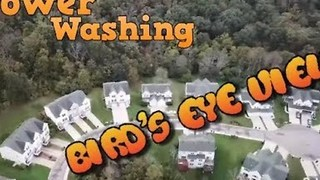 Drone Captures Alternative View of Deep Power Wash - Video