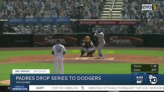 Padres drop series to Dodgers