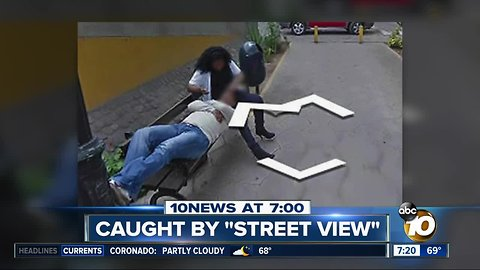 Woman caught cheating on Street View?