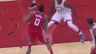James Harden Gets Away with 'Eurostep' Travel, Gets TROLLED by Raptors After Loss - Video