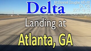 McDonnell Douglas MD-88 Landing at ATL Delta flight DL738