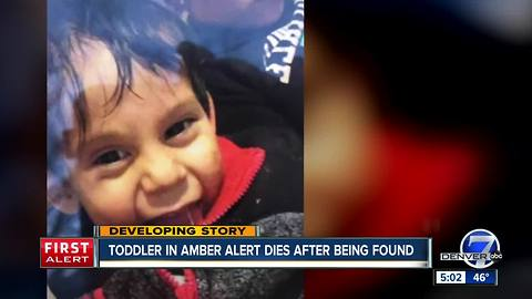 Colorado Springs toddler, 2, dies after he was found following Amber Alert, family confirms
