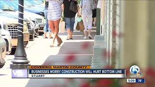 Businesses concerned about construction in downtown Stuart