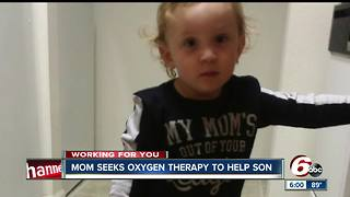 Mom seeks oxygen therapy to treat son with brain damage - Video