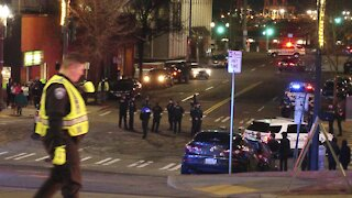 Protesters Gather After Tacoma Officer Drives Through Crowd