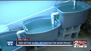 Teen getting global recognition for water project