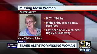 Silver alert issued for Mesa woman