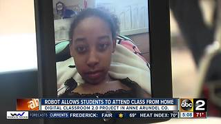Anne Arundel Co. students can now attend class through robots - Video