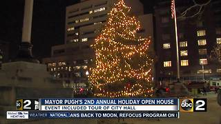 Mayor Pugh hosts 2nd Annual Tree Lighting Ceremony and Open House - Video