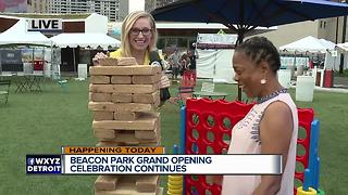 Playing Jenga at Beacon Park - Video