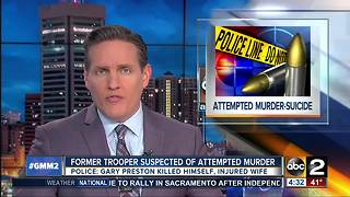 Former state trooper suspected of attempted murder-suicide - Video