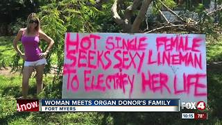 Woman meets organ donor's family - Video