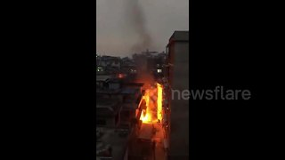 Large gas explosion caught on camera in China - Video