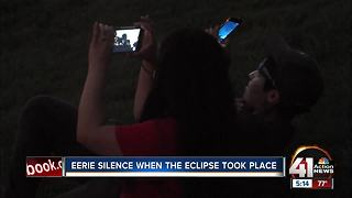 Eerie silence when eclipse took place